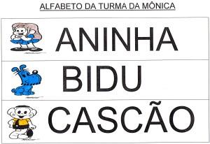 Alfabeto Turma da Mônica - ABC