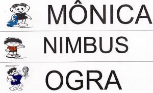 Alfabeto Turma da Mônica - MNO