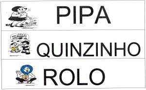 Alfabeto Turma da Mônica - PQR