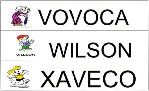 Alfabeto Turma da Mônica - VWX