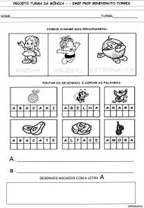 Alfabeto da Turma da Mônica - A