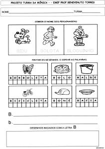 Alfabeto da Turma da Mônica - B