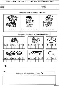 Alfabeto da Turma da Mônica - D