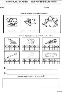 Alfabeto da Turma da Mônica - E