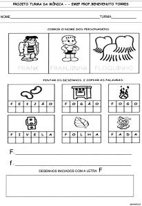 Alfabeto da Turma da Mônica - F