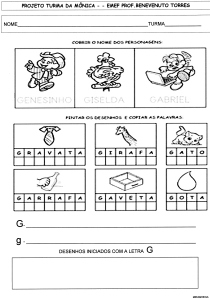 Alfabeto da Turma da Mônica - G