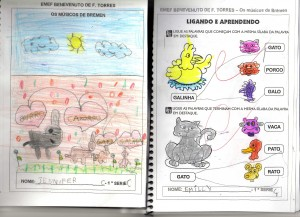 MÚSICOS DE BREMEN-ATIVIDADES DOS ALUNOS