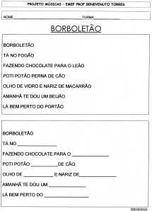 PROJETO MÚSICA-BORBOLETÃO