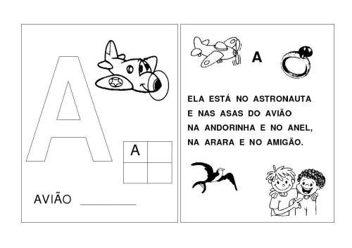 Alfabeto A-B-C-D-E Letras inciais das palavras-A