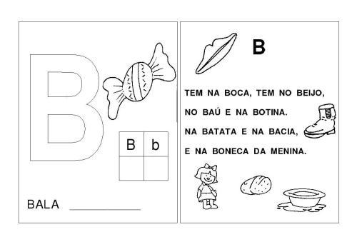 Alfabeto A-B-C-D-E Letras inciais das palavras-B