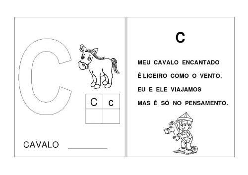 Alfabeto A-B-C-D-E Letras inciais das palavras-C