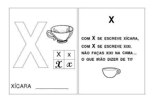 Alfabeto U-V-X