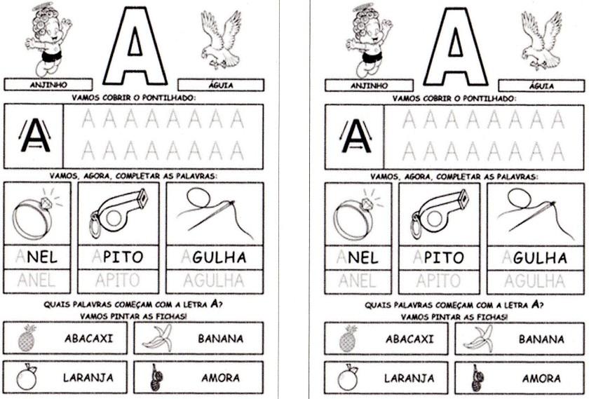 Alfabeto da Turma da Mônica para imprimir-1 - A