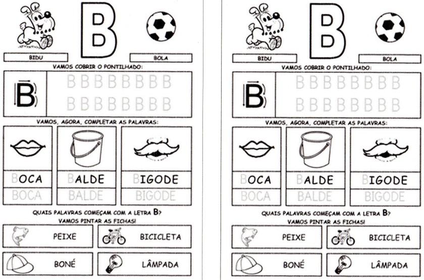 Alfabeto da Turma da Mônica para imprimir-1 - B