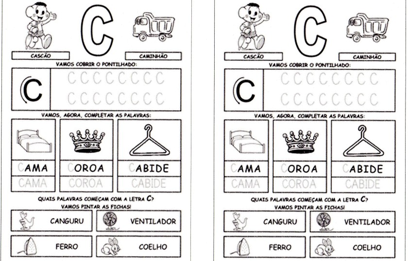 Alfabeto da Turma da Mônica para imprimir-1 - C