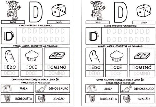 todas letras para caderno D