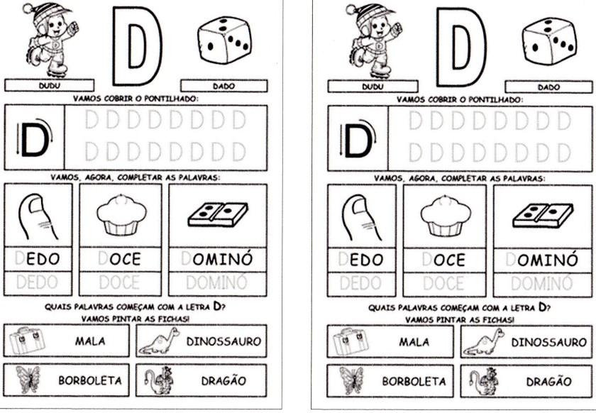 Alfabeto da Turma da Mônica para imprimir-1 - D