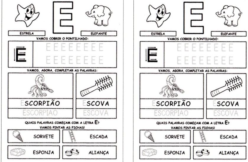 Alfabeto da Turma da Mônica para imprimir-1 - E