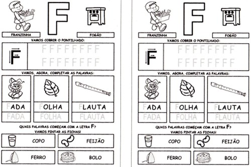 todas letras para caderno F