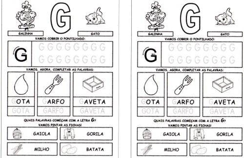 Alfabeto da Turma da Mônica 2 - G