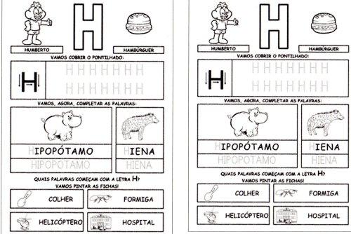 Alfabeto Completo da Turma da Mônica 2 - H
