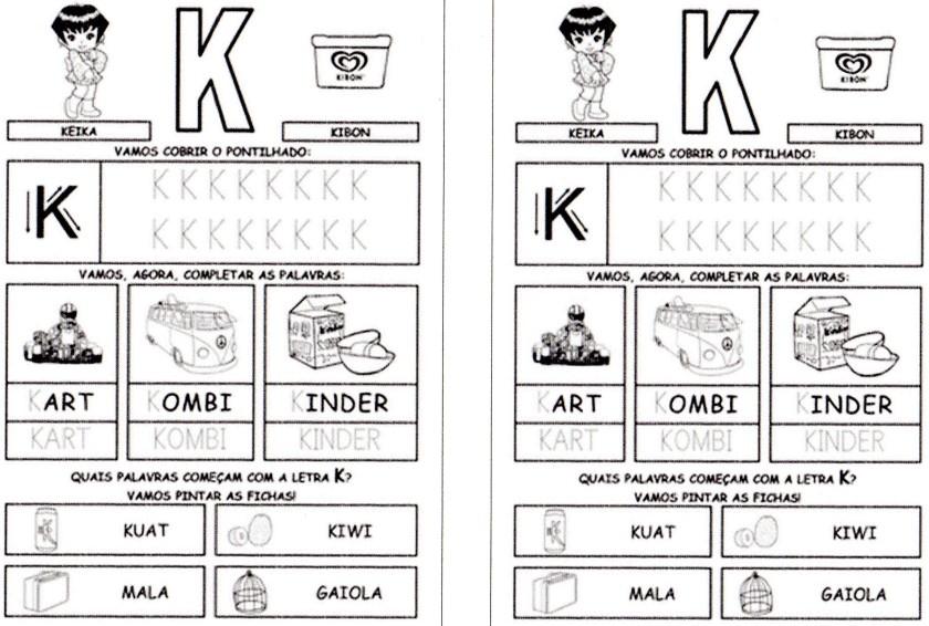 Alfabeto da Turma da Mônica para imprimir-3 - K