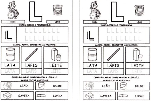 Alfabeto Completo da Turma da Mônica 2 - L
