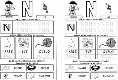 Alfabeto Completo da Turma da Mônica 2 - N