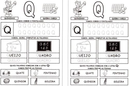 Alfabeto da Turma da Mônica 2 - Q