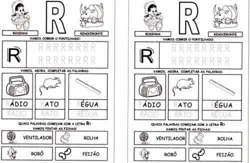 Alfabeto da Turma da Mônica 2 - R