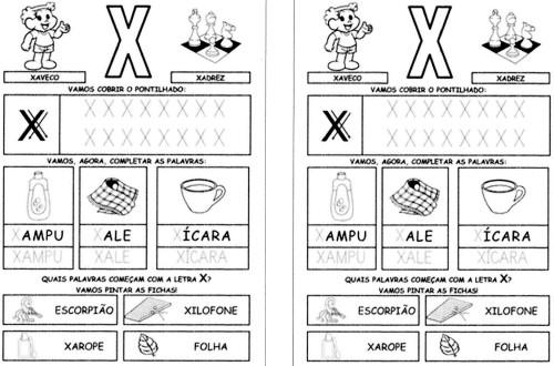 todas letras para caderno X