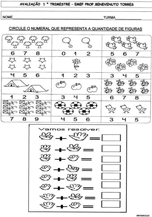 avaliação de matematica