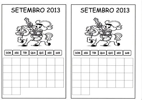 calendario setembro aluno