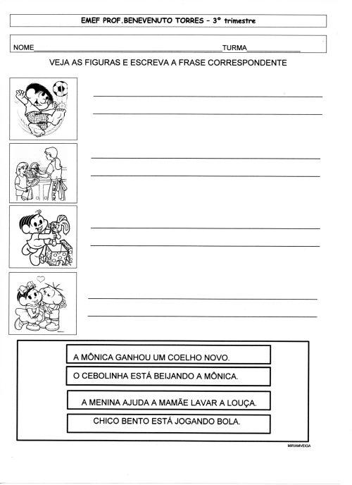 AVALIACAO 3 TRI LEITURA FRASES